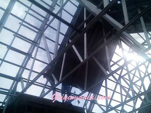 pasang baja ringan di jambi atap griyamania