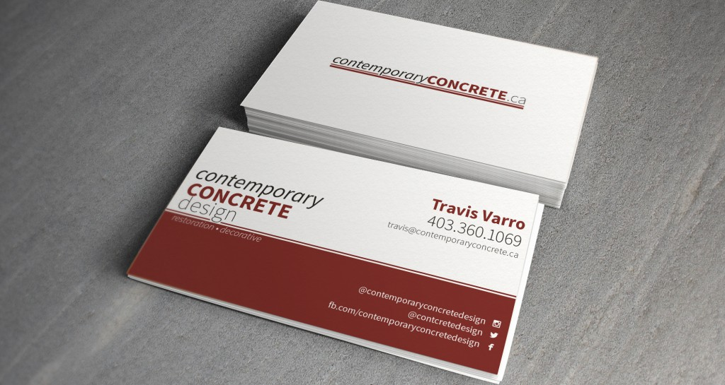 Contemporary Concrete Design Business Cards • Grizzly Media