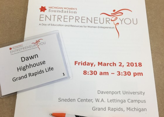Entrepreneur You conference by Michigan Women's Foundation