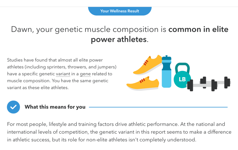 Muscle Composition - from 23andme dna body type