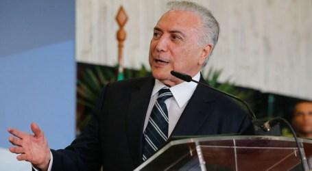 Presidente do STJ suspende processo contra Temer que tramita em SP
