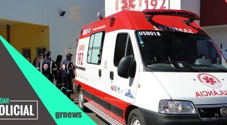 Moto colide em bicicleta e mulher fica ferida na BR-262