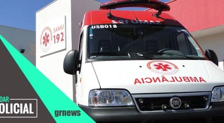 Itaúna: motociclista fica ferido após bater em ônibus