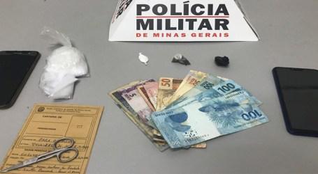 Dupla denunciada por tráfico é presa com maconha e cocaína em Pará de Minas