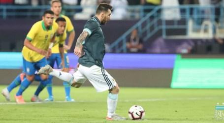 Argentina domina o Brasil e vence com gol de Messi