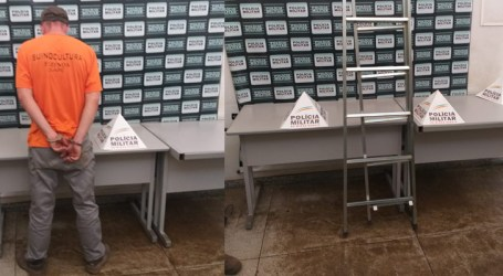 Suspeito de furtar escada é preso no Bairro São Pedro