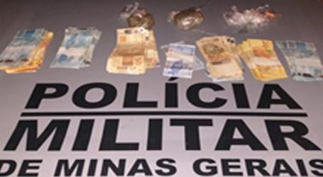 Suspeito de tráfico com passagens por roubos e homicídios é preso com maconha e mais de R$ 5 mil em Nova Serrana