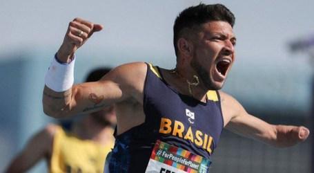 Trinca brasileira arremata o pódio dos 100m masculino-T47, em Dubai