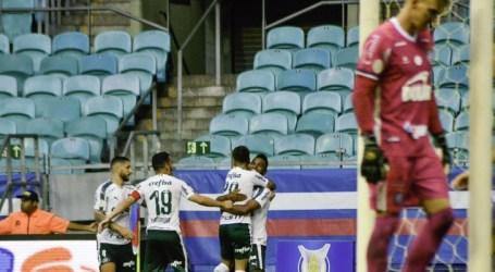 Bahia e Palmeiras empatam e ficam mais distantes de objetivos