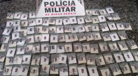 Preso com mais de seis quilos de maconha, 134 Papelotes de cocaína e dinheiro em Formiga