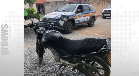 Moto roubada em Itaúna é encontrada em Torneiros