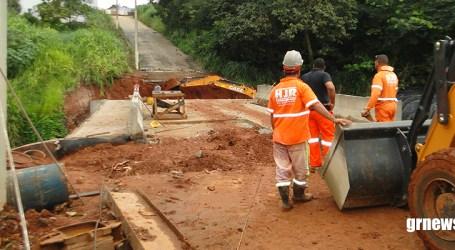 Ponte da Cardeal Hugolino continua intacta após temporal; obra deve ser entregue em breve