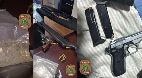 Polícia Federal faz operação em três estados para combater tráfico de armas