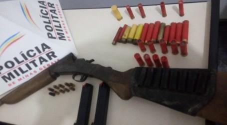 Arma e munições apreendidas em Limas de Igaratinga, após denúncia anônima