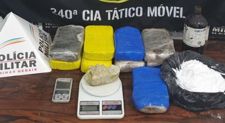Apreendida quantidade expressiva de crack e pasta base de cocaína em Divinópolis