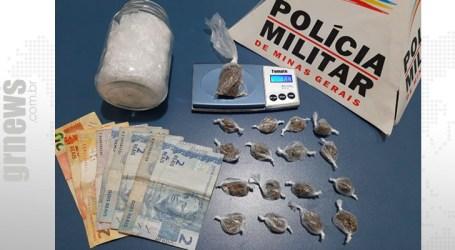 Suspeito de tráfico detido em São Gonçalo do Pará com porções de maconha e dinheiro; adolescente tem passagem por homicídio