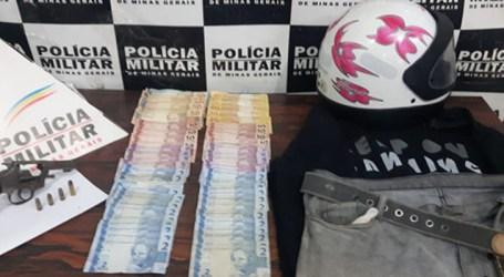 Acusado de roubos em Divinópolis é preso com arma de fogo e dinheiro em Carmo do Cajuru