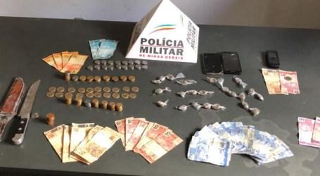 Papagaios: PM apreende 23 buchas de maconha e detém três infratores envolvidos em uso e tráfico de drogas