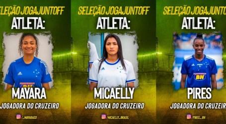 Jogadoras do Cruzeiro participam de campanha de arrecadação de fundos para combate à COVID-19