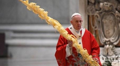 Papa Francisco inicia Semana Santa com celebração sem presença de fieis