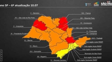 Pandemia: estado de SP tem quatro regiões na fase vermelha