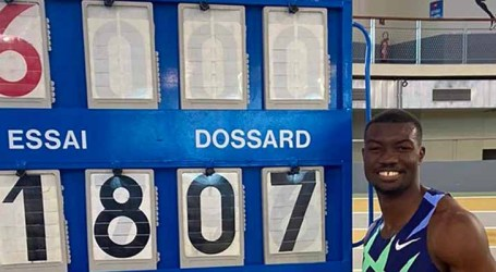 Atleta Hugues Fabrice Zango bate recorde mundial do salto triplo