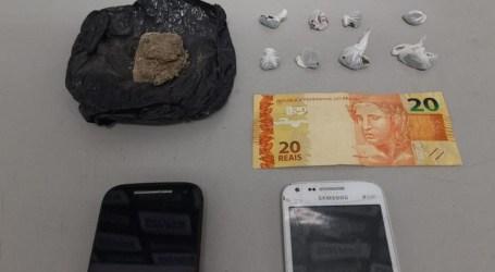 Casal de adolescentes é detido por tráfico de drogas no Redentor e Novo Horizonte