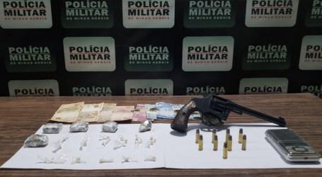 Suspeito de homicídios em Pompéu é preso com drogas, arma e munições