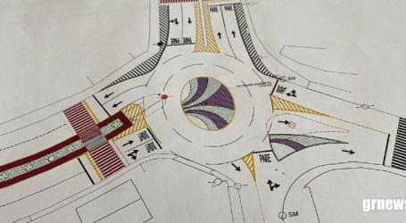 Nova rotatória será construída na entrada do bairro Jardim Castelo Branco