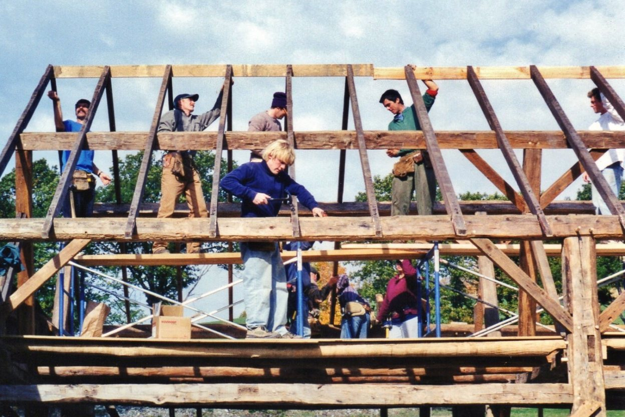 Admirably Timber Frame Barn Raising In Indiana By Moresun