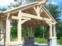Timber Frame Gazebo Green Mountain Frames