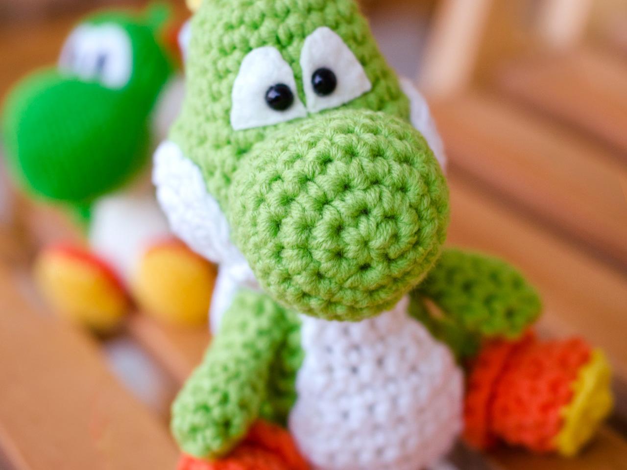 Amigurumi Teddy Bear Crochet Pattern : GROAAAR - Nintendo: Yoshi Amigurumi