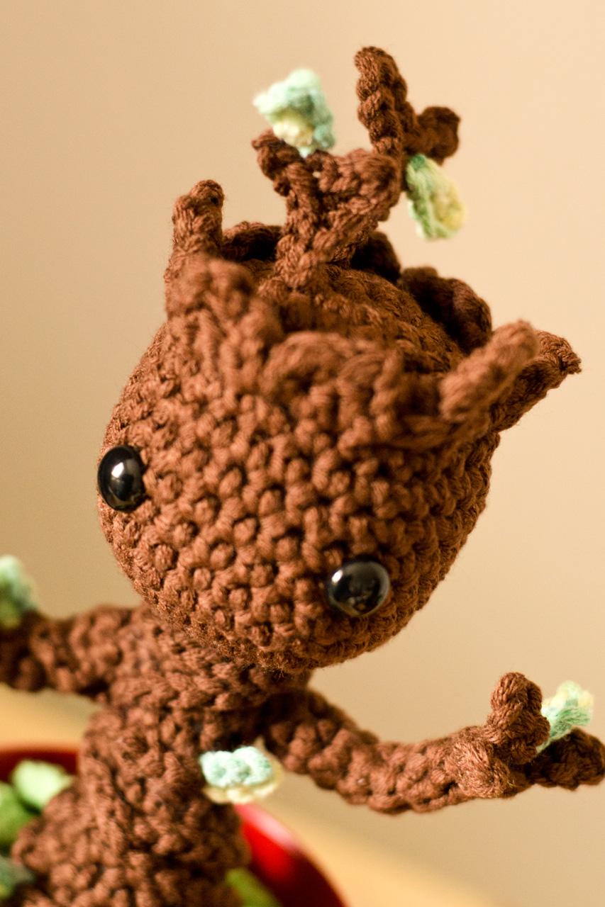 Amigurumi Patterns Groot : Another baby groot amigurumi u groaaar by anjizilla