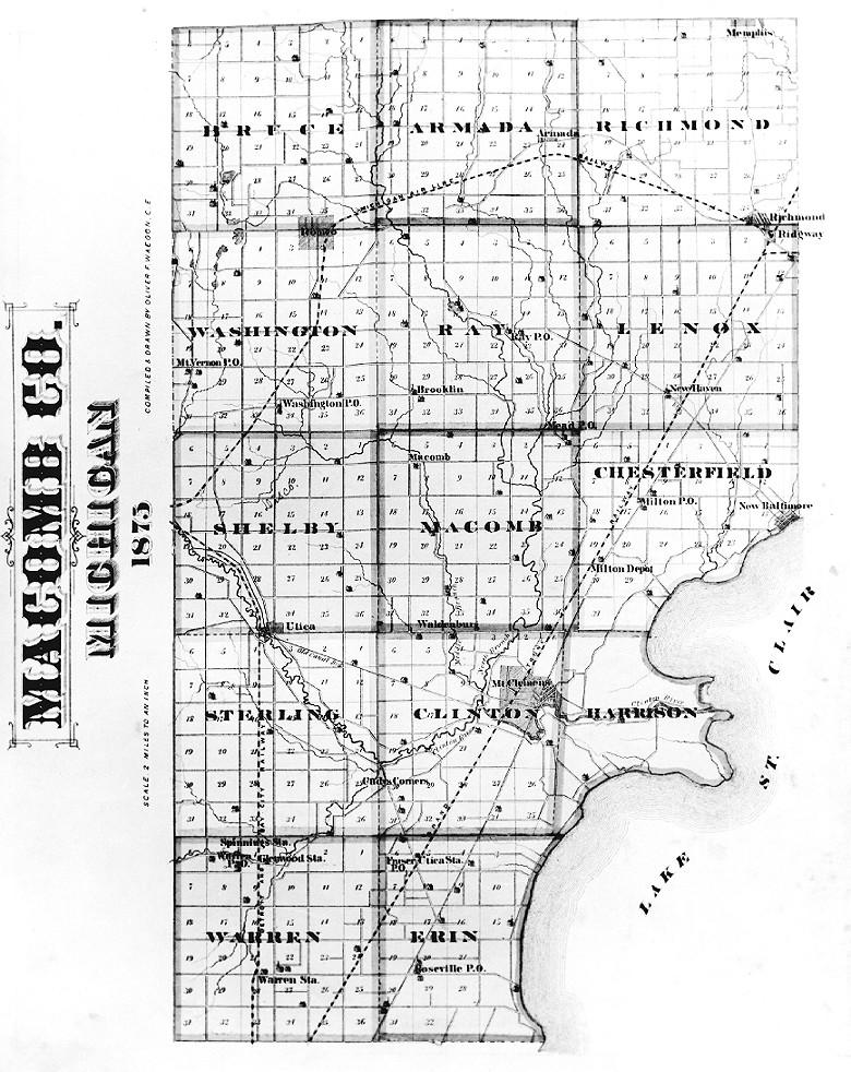Old Center Line Amp Warren Twp Street Maps