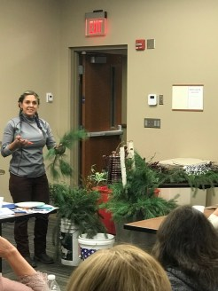 EMG Brandy L., leading a talk on winter containers.
