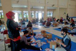 Terjunkan 144 Petugas, KPU Grobogan Lakukan Sortir dan Pelipatan Surat Suara di Gedung Wisuda Budaya Purwodadi