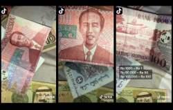 Video Viral di TikTok Tampilkan Uang Kertas Rupiah Redenominasi Pecahan Rp100 Bergambar Jokowi, Netizen: Setuju Tapi Fotonya Soekarno Aja