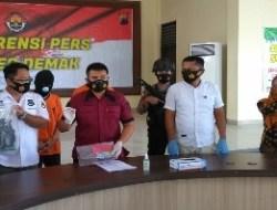 Dua Pelaku Pencurian Spesialis Pecah Kaca Mobil di Demak Diringkus Polisi