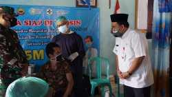 Vaksinasi Covid-19 Terus Digenjot. Bupati Arief Gelar Monitoring Pelaksanaan Vaksinasi Covid-19 Tingkat Desa