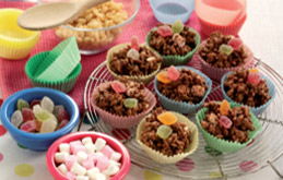 Morrisons Recipes Chocolate and Marshmallow Crispy Cakes