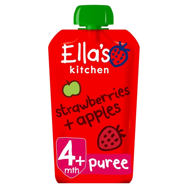 Morrisons Ella Kitchen Mths Organic Strawberries Apples 120g