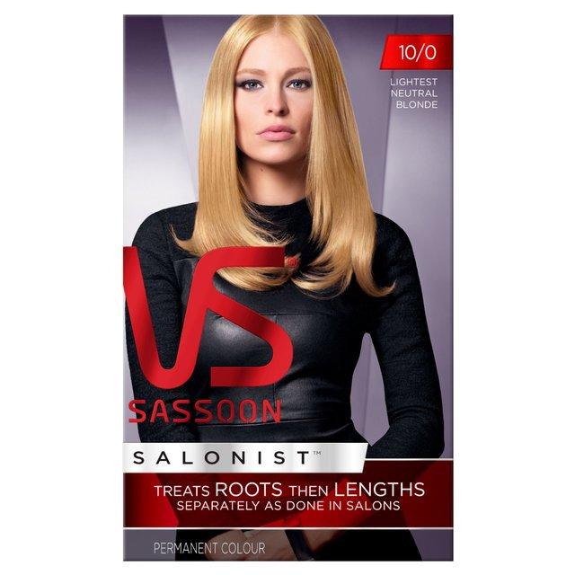 Vidal sassoon salonist hair colour lightest neutral blonde also morrisons rh groceriesrrisons