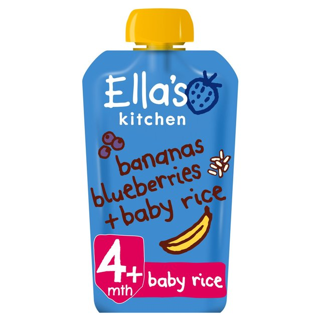 Ellas Kitchen Bananas Blueberry Baby Rice 120g