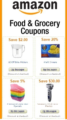 food coupons mailed to me