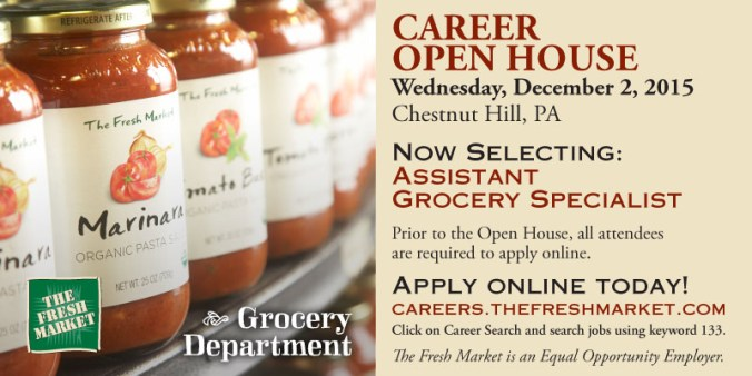Assistant Grocery Specialist Jobs in Chestnut Hill PA  grocery market store clerk jobs