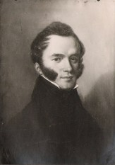 Henryk Grocholski (1802 - 1866) - syn Michała. Mal. na drewnie - Ender
