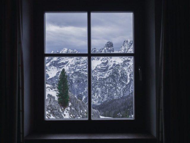 Winter uitzicht Italië