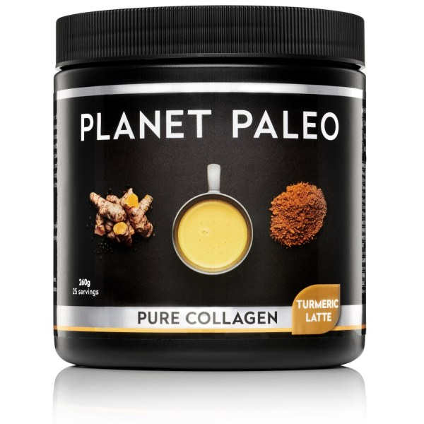 Pure Collagen Turmeric Latte collageen poeder Planet Paleo