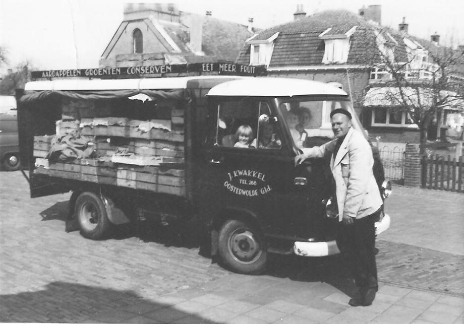 Jan Kwakkel met ventwagen