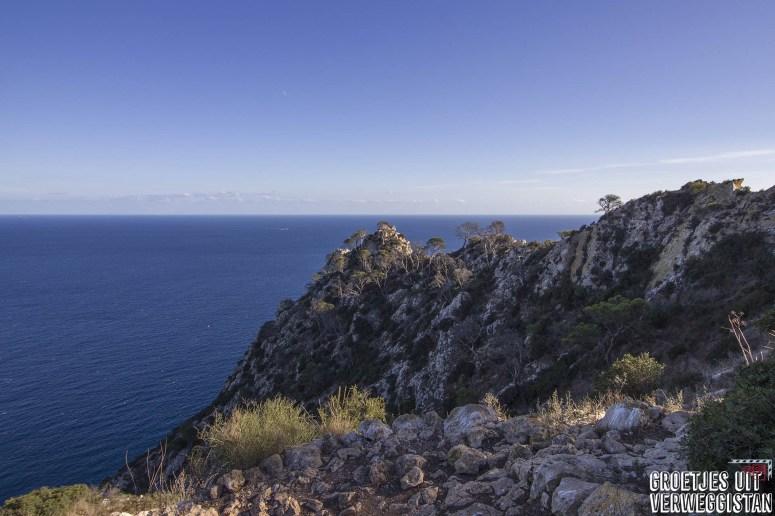 Uitzicht over de Middellandse Zee vanaf Peñon de Ifach